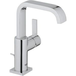 Grohe Allure Mitigeur lavabo Taille L 32146000 chrome, bec U, garniture vidage