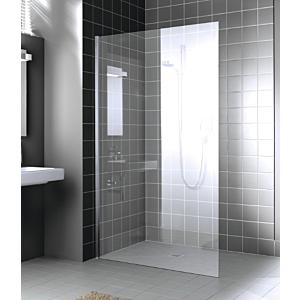 Kermi Walk-In XC Glasanlage WIO XCWIO05020VPK 50x200cm, ESG klar KermiClean, silber hochglanz