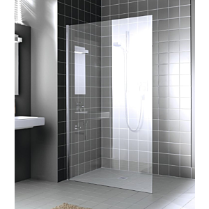 Kermi Walk-In XC Glasanlage WIO XCWIO07020VPK 70x200cm, ESG klar KermiClean, silber hochglanz