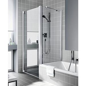 Kermi Raya Seitenwand auf Badewanne RATVD07517VPK 75x175cm, ESG klar KermiClean, silber hochglanz