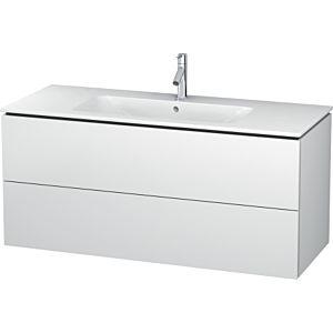 Duravit L-Cube Waschtischunterbau LC624301818 Weiß Matt, 122x55x48,1cm, 2 Schubladen