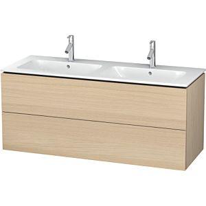 Duravit L-Cube Waschtischunterbau LC625807171 Mediterrane Eiche, 129x55x48,1cm, 2 Schubladen