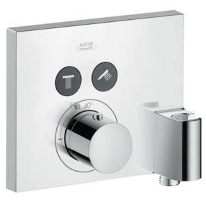 hansgrohe Axor ShowerSelect Square Thermostat 36712000, Unterputzthermostat, 2 Verbraucher