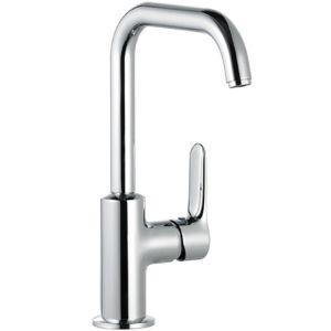 Kludi Objekta Waschtischarmatur 320240575 chrom, ohne Ablaufgarnitur, Hebel seitlich