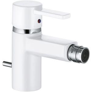 Kludi Zenta White Bidetarmatur 385309175 chrom/white, mit Ablaufgarnitur