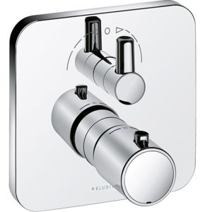 Kludi E2 Wannenarmatur 498300575 chrom, Unterputz-Fertigset, Thermostat