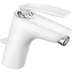 Kludi Balance White Bidetarmatur 522169175 chrom/weiß, mit Ablaufgarnitur