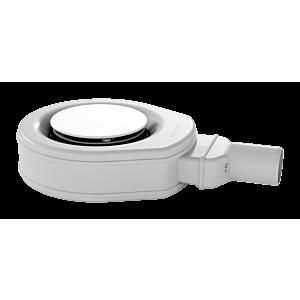 Kaldewei Ablaufgarnitur KA 90 687744490001 weiss, 4449, Ultraflach, emaillierter Ablaufdeckel