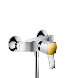 hansgrohe Metropol Classic Brausearmatur 31360090 chrom/gold-optik, Aufputz, mit Hebelgriff
