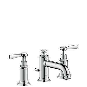 hansgrohe Axor Montreux Waschtischarmatur 16535000 chrom, Ablaufgarnitur, 142 mm, Hebelgriff