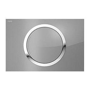 MEPA Zero Betätigungsplatte 421856 Glas silber, 2-Mengenspülung
