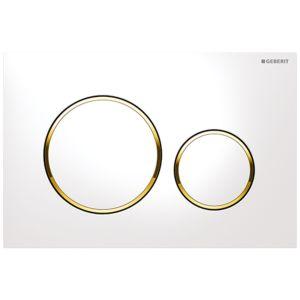 Geberit Sigma20 Betätigungsplatte 115882KK1 weiß / vergoldet