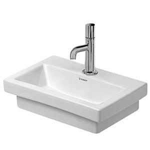 Duravit 2nd floor Handwaschbecken 07904000711 weiss, 1 Hahnloch, ohne Überlauf, wondergliss