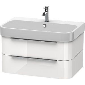 Duravit Happy D.2 Waschtischunterbau H2636502222 77,5x48x38cm, weiß hochglanz, 2 Schubkästen