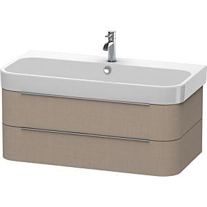 Duravit Happy D.2 Waschtischunterbau H2636607575 97,5x48x38cm, Leinen, 2 Schubkästen