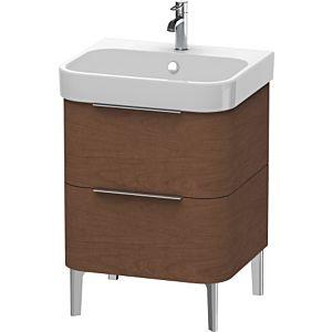 Duravit Happy D.2 Waschtischunterbau H2637101313 57,5x57,3x48cm, Amerik. Nussbaum, 2 Schubkästen