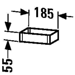 Duravit Box UV991007777 10x18,5x5,5cm, aus Acryl/Holz, nussbaum