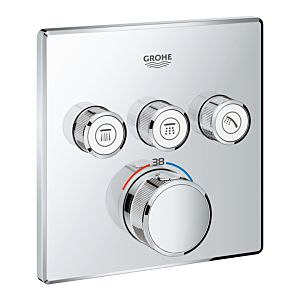 Grohe Grohtherm SmartControl thermostat 29126000 with 3 valves, chrome