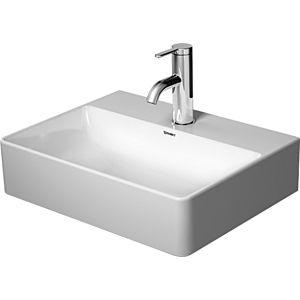 Duravit DuraSquare Handwaschbecken 07324500711 weiß wondwergliss,45x35cm,mit Hahnloch,geschliffen