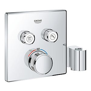 Grohe Grohtherm Smartcontrol 29125000 chrom, UP-Thermostat, 2 Absperrventile, mit Halter