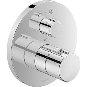 Duravit C.1 Brausethermostat C14200014010 chrom, 2 Verbraucher, Ab- und Umstellung