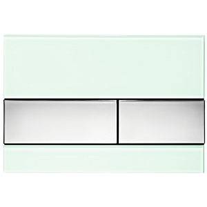TECEsquare Betätigungsplatte 9240805 Glas mintgrün, Tasten Chrom glänzend