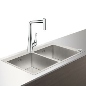 Hansgrohe Select C71-F765-05 Spülencombi 43211000 chrom, mit sBox, 2 Hauptbecken