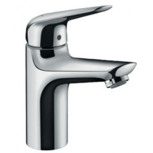 Hansgrohe Novus 100 Low Flow Waschtischarmatur 71034000, chrom, mit Push-Open Ablaufgarnitur