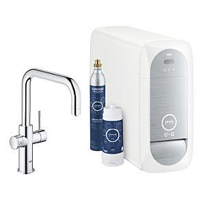 Grohe Blue Home Küchenarmatur 31456001 chrom, U-Auslauf, Starter Kit