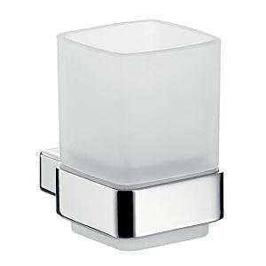 Emco Loft Glashalter 052000100 chrom, Kristallglas satiniert, Wandmodell