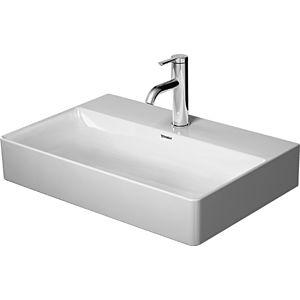 Duravit DuraSquare Waschtisch 23566000411 600x400mm, weiß Wondergliss, ohne Überlauf