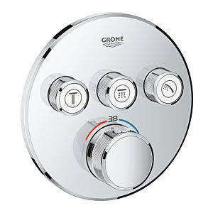 Grohe Grohtherm Smartcontrol Thermostat 29121000 mit 3 Absperrventilen, chrom