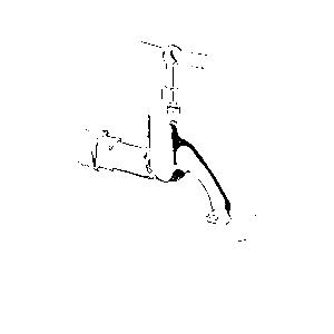 Schell Auslaufventil 034050699 chrom, Oberteil mit Knebelgriff