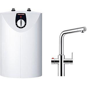 Stiebel Eltron SNU HOT Heisswassergerät 232252 5 l, 2 kW, weiß, mit Armatur, HOT 3in1cr