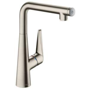 hansgrohe Talis Select S300 Küchenarmatur 72820800 Edelstahl-Optik, schwenkbarer Auslauf