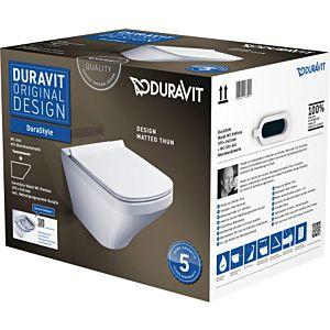 DuraStyle Wand-WC Rimless® Set 45510900A1 weiss, mit WC-Sitz, spülrandlos