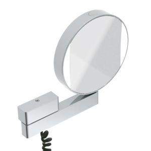 Emco LED Rasier- und Kosmetikspiegel 109506018 chrom, mit Spiralkabel/Stecker