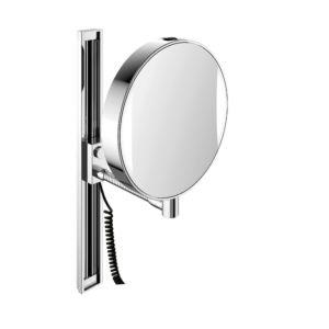 Emco LED Rasier- und Kosmetikspiegel 109506012 chrom, mit Gleitschiene zur Höhenverstellung