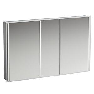 Laufen Frame 25 LED-Spiegelschrank 4088549001441, 120cm, 3 Türen, Seite verspiegelt, Ambientelicht