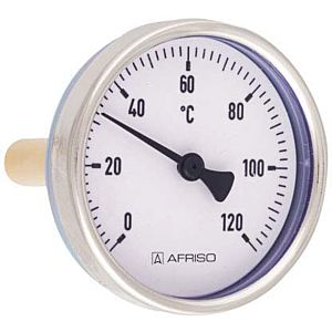 Afriso Bimetall-Thermometer 63813 0/120 °C, 100mm, Gehäuse-d= 100mm