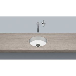 Alape Ub. Unterbaubecken 3223504000 Ø 31.9cm, white, without tap hole / overflow, HPL