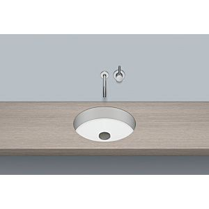 Alape Unterbau-Waschtisch UB.KE400 Ø 39,4 cm, we, o. Hahnloch/Überlauf, HPL