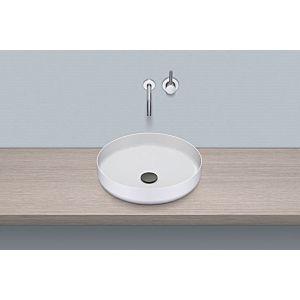 Alape Aufsatz-Waschtisch AB.SO450.1 Ø 45 cm, weiß, ohne Hahnloch/Überlauf