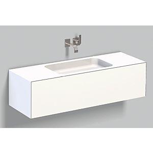 Alape Folio Waschplatz 5157514000 1254x500mm, weiß, ohne Hahnloch/Überlauf