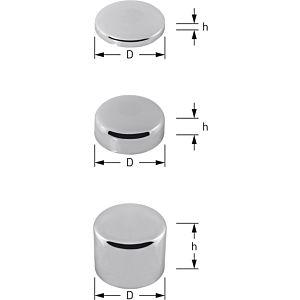 Universal aveugle Stedo 400954 laiton chromé, h 15 mm, P 80 mm