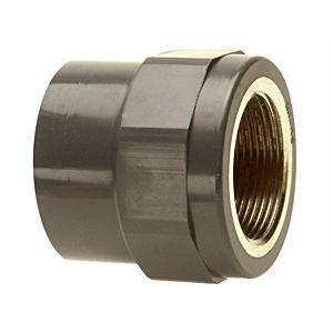 Bänninger PVC-U Übergangs-Gewindemuffe 1R10094712 40mmxIG 1 1/4, DN 32, mit zylindrischem IG