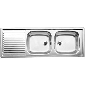 Blanco Top ezs Einbau-Doppelspüle 500374 123,5 x 43,5 cm, Edelstahl, reversibel