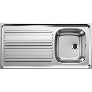 Évier à poser Blanco 510502 100x50cm, acier inoxydable, réversible