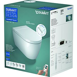 Duravit wall-mounted washdown- WC 650000012004320 37.8x57.5cm, Durolast, rimless, white, white