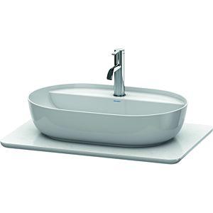 Duravit console de lavabo Luv LU946501717 68.8x47.5cm, structure blanche, en pierre de quartz, avec découpe 2000